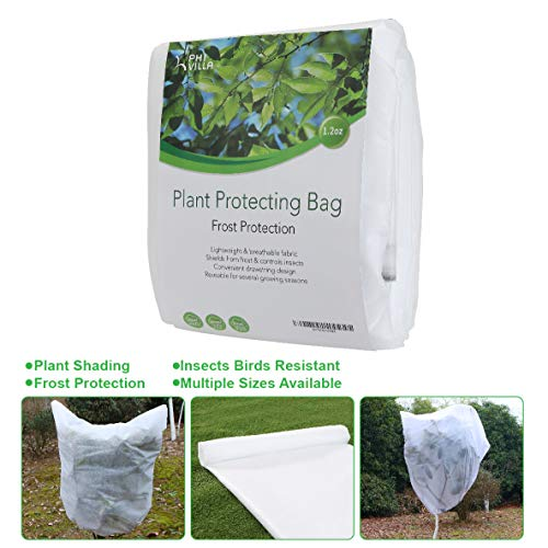 PHI VILLA Plant Protector Bag Frost Protection Cover Plant Cover, 1.2 oz, 84' x 72'