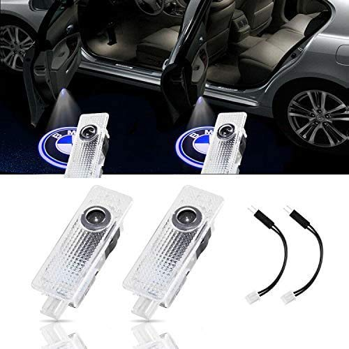 2-Pack Car Door LED Logo Lighting fit BMW Projector Welcome Lights for 3/4/5/6/7/M/X/Z/GT Series