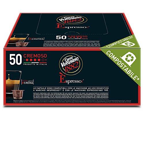 Caffè Vergnano 1882 Èspresso1882 Cremoso - 50 Capsule - Compatibili Nespresso