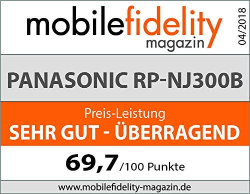 Panasonic RP-NJ300BE-K Bluetooth In-Ear Kopfhörer (Ohrhörer, Quick Charge, Mikrofon, Sprachsteuerung, schwarz)