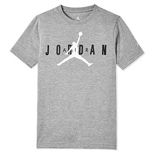 Nike Air Jordan Jumpman Big Boys 23 Jumpman T Shirt (Medium, Carbon Heather 23)