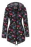 Chubasquero para mujer de leopardo, talla 12 - 20 Color negro. 42