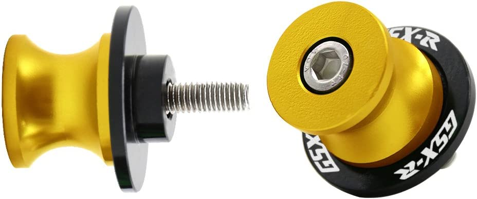 "/'GSXR/"" 8mm Swingarm Sliders Spools Stand Bobbins for Suzuki GSXR600 750 1000 SUP"