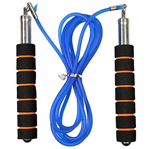Andouy Springseil für Erwachsene Damen Herren Kinder, Speed Rope Verstellbare Stahlseile Profi Kugellager Anti-Rutsch Griffe Crossfit Profi Sport, Boxen, Training(2.7M.Blau)