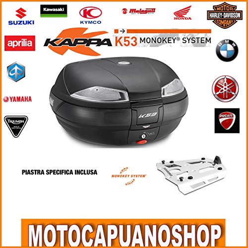 Kit KAPPA K53 TECH en plaat aluminium R 1200 RT 2015 2016 2017