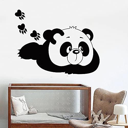 Panda creativo etiqueta de la pared decoración de la habitación de los niños decoración extraíble impermeable autoadhesivo etiqueta de la pared A9 43x56cm