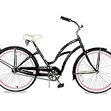 TRACER TAHA 26'' Cruiser Beach Bike for Women/Youth/Adult, 26-inch Wheels, Hi-Ten Steel Frame, Soft...