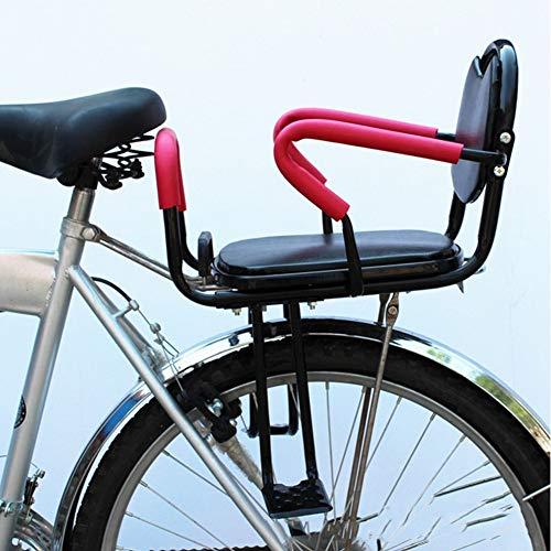 Joyfitness Portabiciclette per la Sicurezza dei sedili Posteriori Portabiciclette Universale per Biciclette Seggiolino per i più Piccoli con pedaliera per appoggio Posteriore,Black,38x54cm