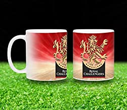 Vista 11oz IPL Team Printed Coffee Mugs- Royal Challengers Bangalore Logo printed White Mug