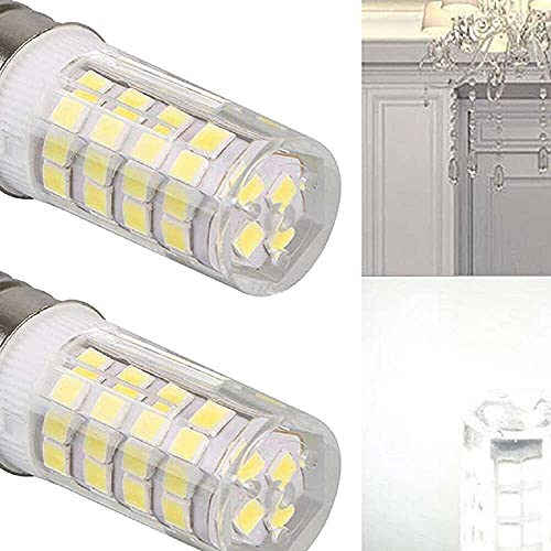Gmasuber Bombilla LED E17 para microondas y horno, luz blanca diurna, equivalente a 6000 K, 4 W, 2 unidades