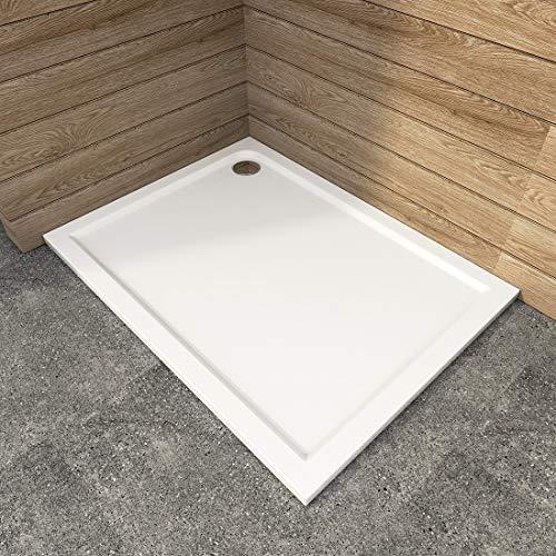 WELMAX Duschtasse 120 x 90 cm Weiß Rechteckig Duschwanne Duschwannen Badezimmer Duschbecken Quadratisch