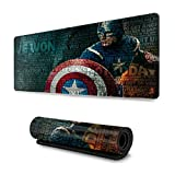 Superhero Captain America Mouse Pad Rectangle Non-Slip Rubber Electronic Sports Oversized Large Mousepad Gaming Dedicated,for Laptop Computer & PC 11.8X31.5 Inch