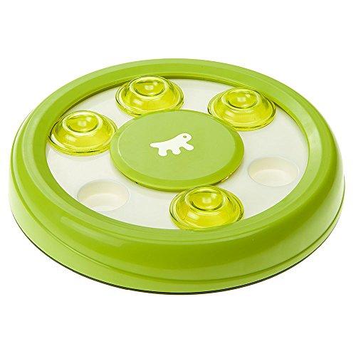 Ferplast 85088099 Interaktives Spiel für Katzen Discover Sie mit Löchern für Knabbereien aus Kunststoff mit rutschfestem Material, 250 g