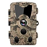 【2021 Upgrade】 Suntekcam Trail Camera 24MP 1080P Hunting Game Camera with 75FT No Glow Infrared Night Vision,120° Detection Angel for Wildlife Monitoring IP66 Waterproof