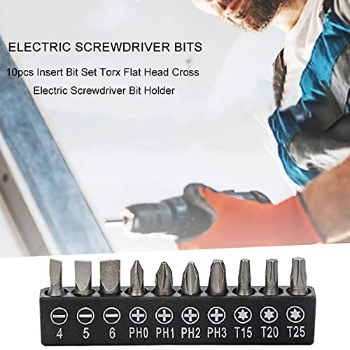 ouyg S2 Steel Screwdriver Bit Set with Holder, Multi-bit 10-Piece