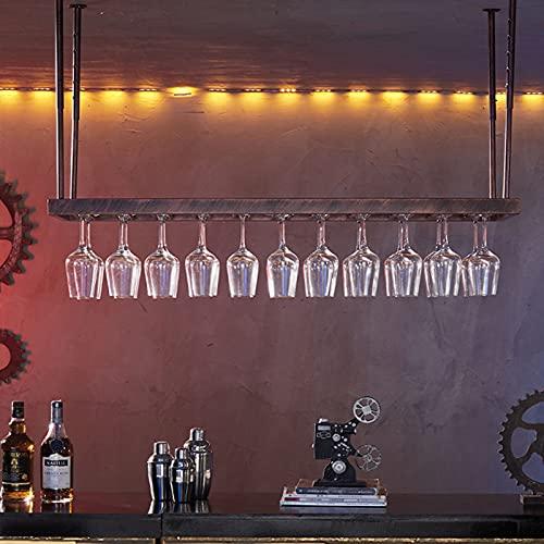 Botelleros de Hierro Metálico para Bares Estante para vino al revés, soporte para copas de vino, barra, colgador para botellas de vino, soporte para copa colgante, sala de estar para el hogar, sopo
