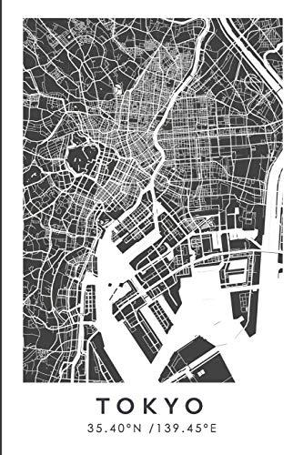 TOKYO 35.40ºN /139.45ºE: Cuaderno de viaje. Diario, bullet journal, bujo, Diseñado en Barcelona, cuaderno de dibujo, sketchbook, bujo, cuadrícula de ... de viajes, mapa de ciudades (CITY MAPS)