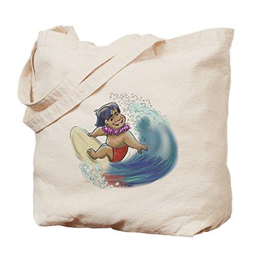 CafePress–Hawaii Surfer, Leinwand natur Tasche, Reinigungstuch Einkaufstasche
