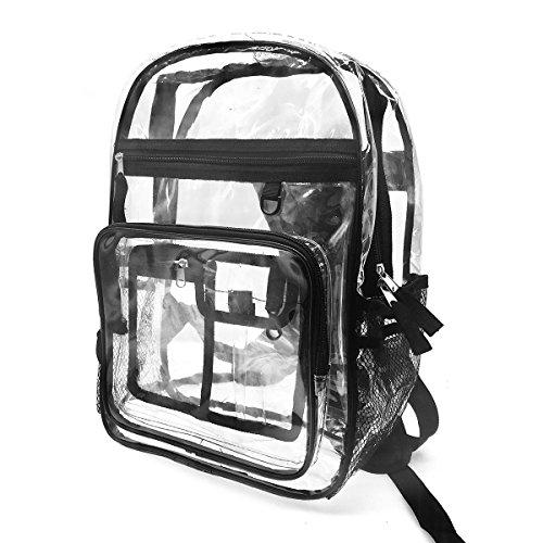 Enkrio Bolsa Impermeable Transparente Mochila Resistente PVC Liso Workbag de plástico