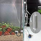 バブルカウンター クリア 二酸化炭素 CO2 カウンター ガラス製 泡 飛散防止 水槽 水族館 高透明度
