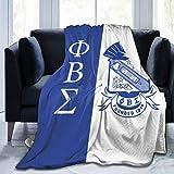 Guvaola Phi Beta Sigma Flannel Fleece Blanket, Air Conditioning Blanket, Velvet Blanket, All-Season Blanket, for Bed, Sofa, Car