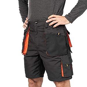 Verano Pantalones Cortos de Trabajo para Hombre, Multibolsillos, Bermudas de Trabajo, Tamaño S – 3XL, Corto de Trabajo, Cargo Shorts, Resistente Ropa de Trabajo