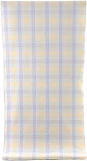 伊勢木綿 反物 -37- 長尺 広幅 臼井織布 絹鼠/牡丹鼠/鳥の子色 格子柄