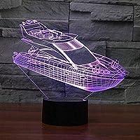 3DレーシングカーイリュージョンランプLedナイトライト7色タッチリモコンデスクテーブルランプホームデコレーションナイトライトバースデーギフトライト