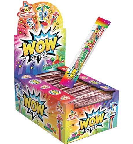 Casa del Dolce Wow Stick Caramelle Ripiene Gusto Frutta - 1 x 1050 Gram (150 Stick)