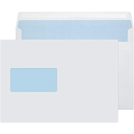 Lot of 50 white envelopes a5 size 162 x 229 mm with 45x100mm c5 windows