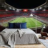 Fototapete Vlies Tapete FCB Stadion bei Nacht Bayern München Allianz Arena Fußball Bundesliga Mannschaft Sportverein Spiele Rasen Tor Wall-Art - 528x260 cm