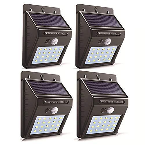 Luz Solar Exterior con sensor de movimiento, lluminación Exterior Solares con 3...