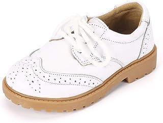 MK MATT KEELY Toddler Kids Genuine Leather Shoes Boys Girls Uniform School  Sneakers 18d1a121ba3