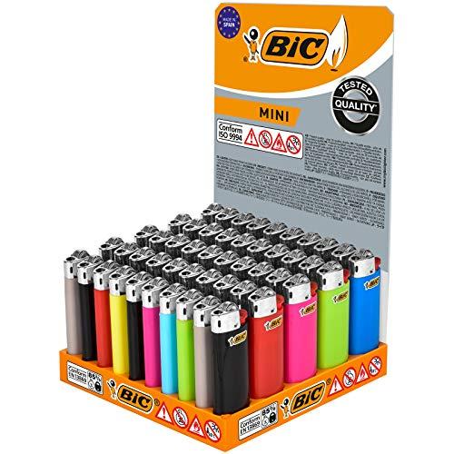 BIC Mini Présentoir de 50Briquets à pierre, différentes couleurs