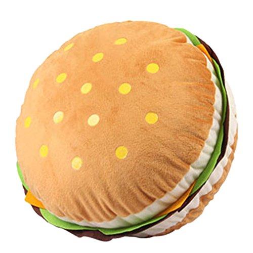 Amybria Lovely Plush Stuffed Huge Hamburger Decorative Throw Pillow Toy