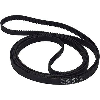 BEMONOC GT2 Driver Belt L=300mm W=9mm 150 Teeth in Closed Loop 2GT Rubber Conveyor Belts Pack of 2pcs