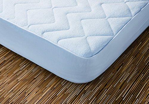 Cotopur Protector de colchón Acolchado. 100% algodón. Reversible. (Blanco 90x190 cm)