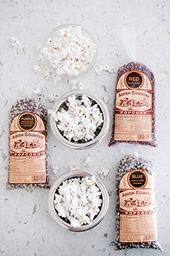 Product Image 5: Amish Country Popcorn | 3 – 1 lb Bags | Purple, Red and Blue Popcorn Kernels | Old Fashioned with Recipe Guide (3 – 1 lb Bags)
