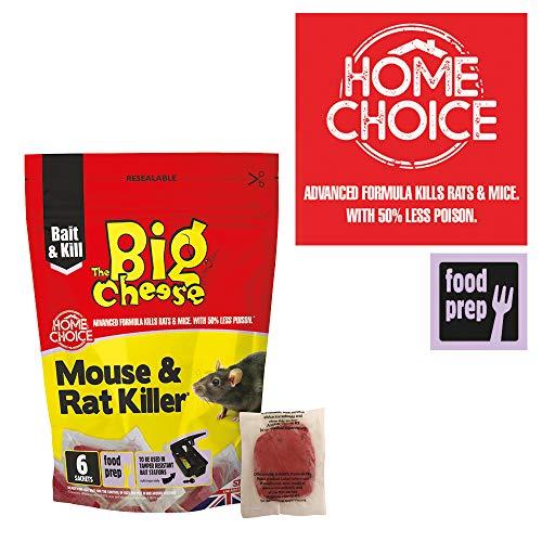 The Big Cheese 6 Pack Mouse & Rat Killer² -Confezione da 6, Rosso, 3x12.5x19 cm