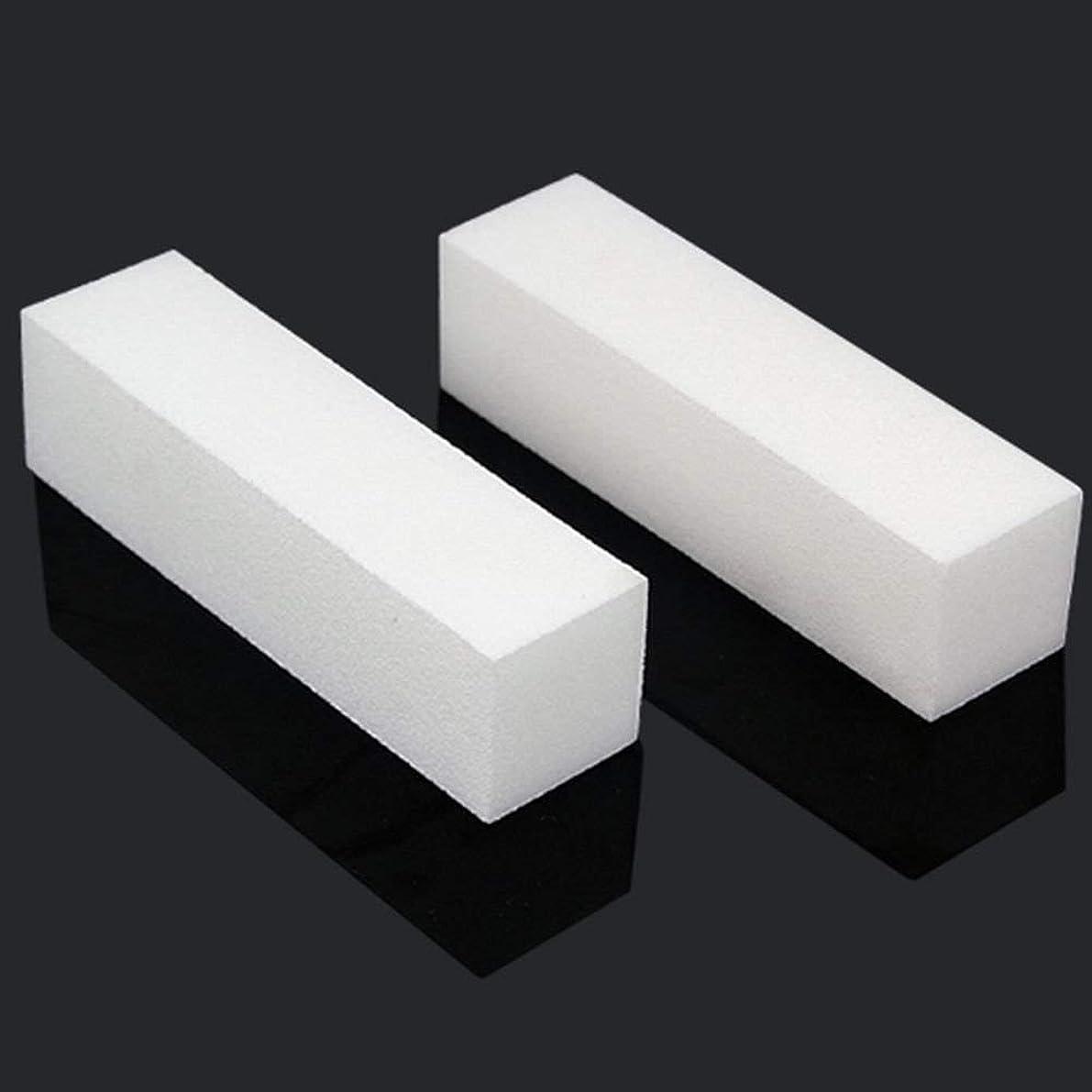 膜ファセット説教ACAMPTAR 10x白いのアクリルネイルアートのバフ研磨のツール、マニキュアツール