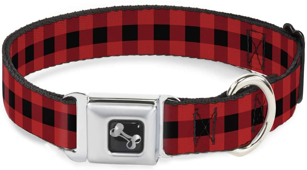 Max 68% Safety and trust OFF Buckle-Down Seatbelt Buckle Dog Collar Plaid Red Black Buffalo -