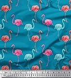 Soimoi Blau Baumwolle Ente Stoff Flamingo Vogel Stoff