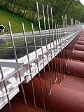 Anti piccioni per fotovoltaico Regolabile, Altezza 210 mm, Lunghezza 5 Metri, Completamente in Acciaio Inox 100%, 5 Pezzi, Adatto per Tutti i Tipi di fotovoltaici e condizionatori.