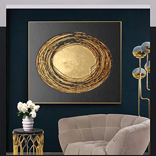 mmzki Resumen Oro Negro Blanco Moderno Textura Cuadrada Lienzo Pintura Carteles e Impresiones decoración para el hogar Arte de la Pared imágenes para Sala de Estar