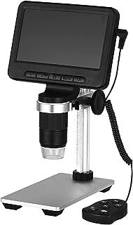 LCD Digital Microscope, 5 Inch HD 1080P Wireless Microscope, USB Stereo Microscope Camera,8 Adjustable LED Light Video Cam...
