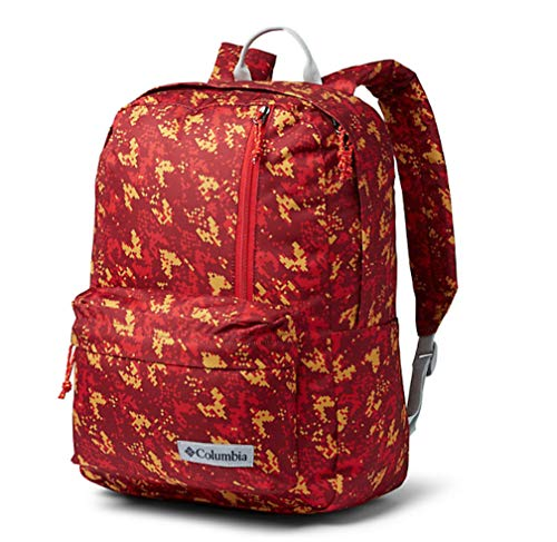 Columbia Sun Pass II Day Pack Laptop/Travel Backpack (One size, Red/multi)