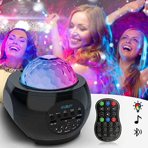 Galaxy Star Projector, Night Light Projector Starry Sky Light with Music Speaker & Remote Control for Bedroom/Party/Home Decor,Projector with Voice Control and Timer for Kids & Adults