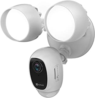 EZVIZ LC1C-Floodlight Cam - WiFi Smart Home Security Camera White - Wired - Led lights - Two way talk - Full HD live video...
