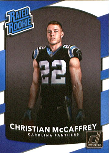2017 Donruss #318 Christian McCaffrey Panthers Rated Rookie NFL Football Card NM-MT
