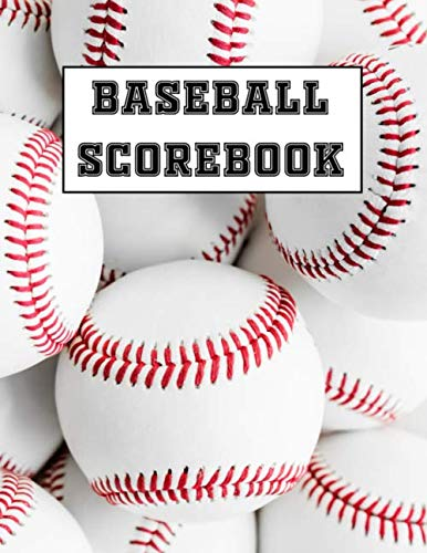 Baseball Scorebook: 200 Baseball Scorecard sheets / Baseball & Softball Score Record Book / Gift for Coach & Baseball Fans / Log a Full Season plus Playoffs!